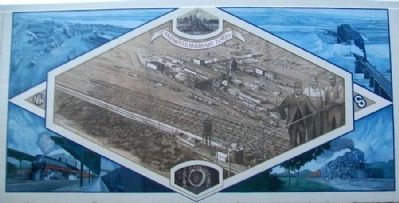 Portsmouth Railroads, 1950's Mural image. Click for full size.
