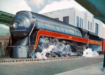 Portsmouth Railroads, 1950's Mural Detail image. Click for full size.