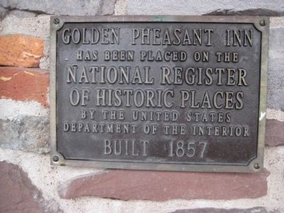Golden Pheasant Inn Marker image. Click for full size.