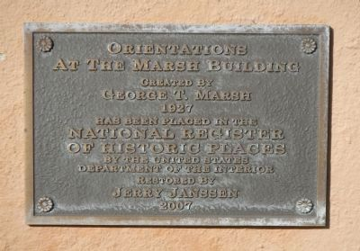 Orientations At The Marsh Building Marker image. Click for full size.