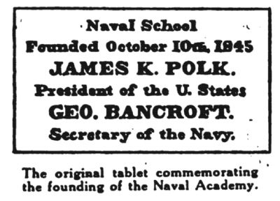 Naval School Marker image. Click for full size.