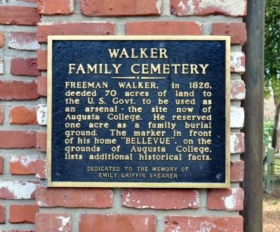 Walker Family Cemetery Marker image. Click for full size.