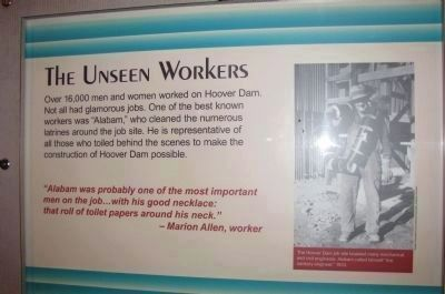 Information Displayed at the Hoover Dam Museum image. Click for full size.