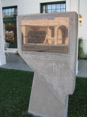 The Boulder Dam Hotel Marker image. Click for full size.