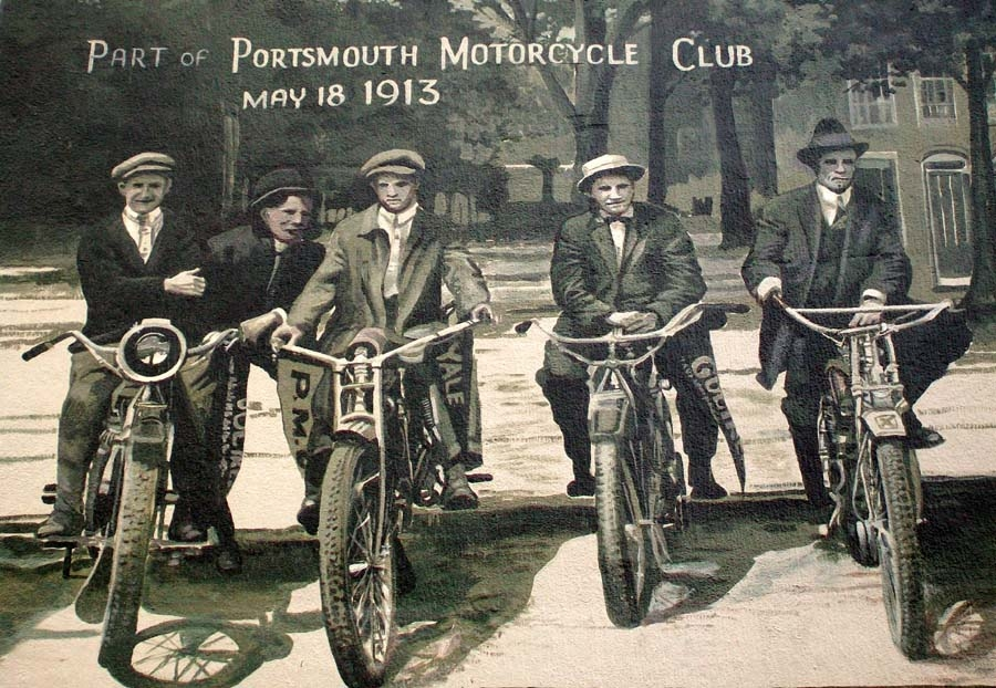 Portsmouth Motrocycle Club Mural Detail