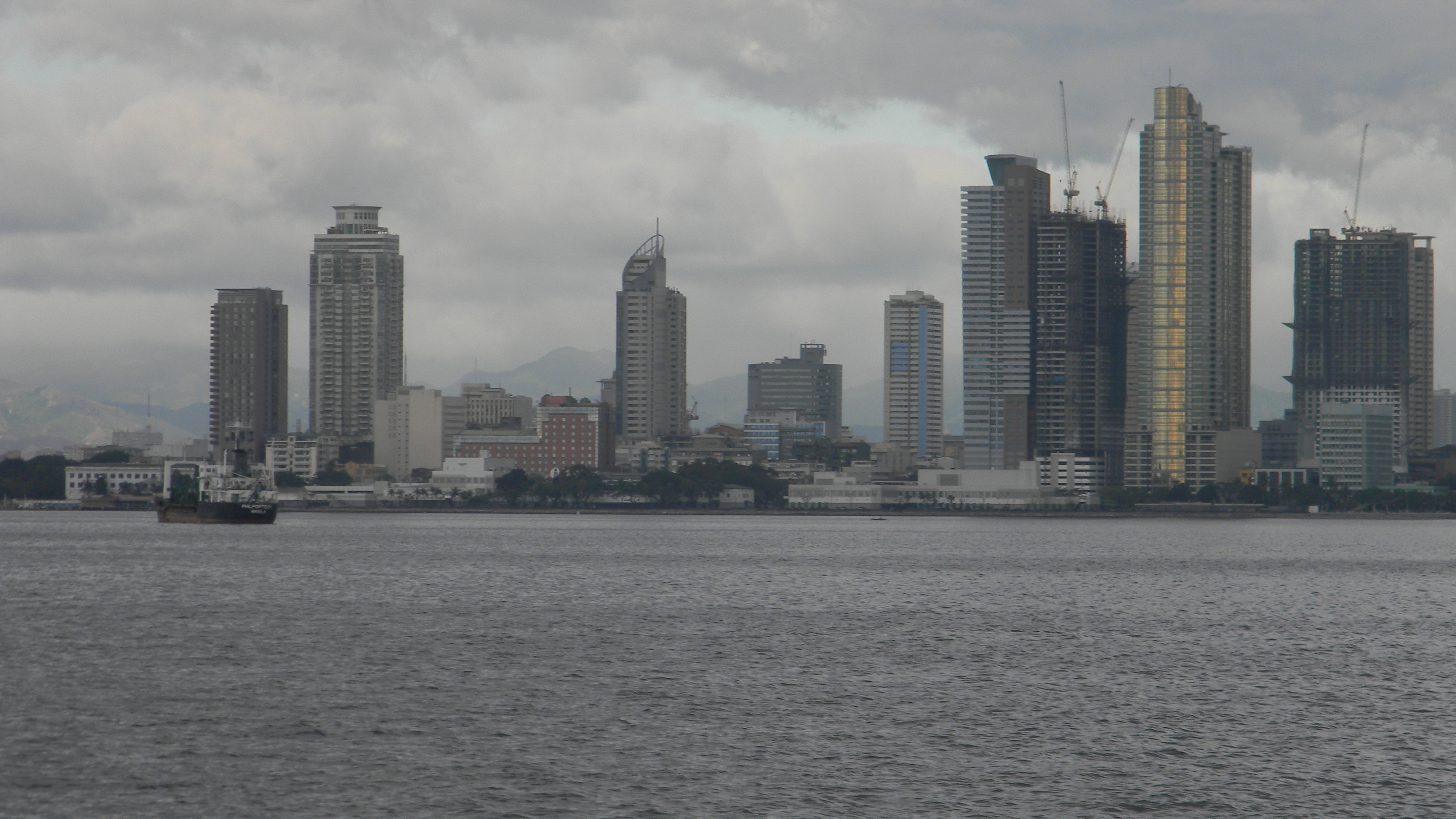 The Manila skyline - viewed from the ferry whose terminal is near
