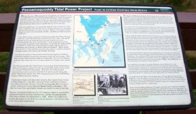 Passamaquoddy Tidal Power Project Marker image. Click for full size.