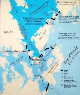 Map on Passamaquoddy Tidal Power Project Marker image. Click for full size.
