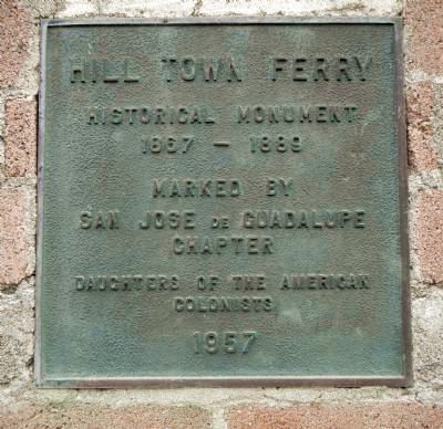 Hill Town Ferry Marker image. Click for full size.