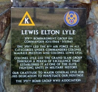 379th Bombardment Group Commander Lewis Elton Lyle image. Click for full size.