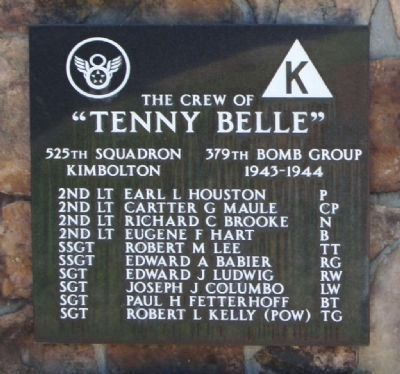 "379th Bombardment Group - 525th Squadron -""Tenny Belle"" image. Click for full size."
