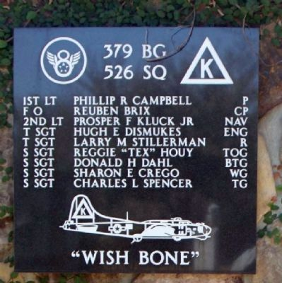 "379th Bombardment Group - 526th Squadron -""Wish Bone"" image. Click for full size."