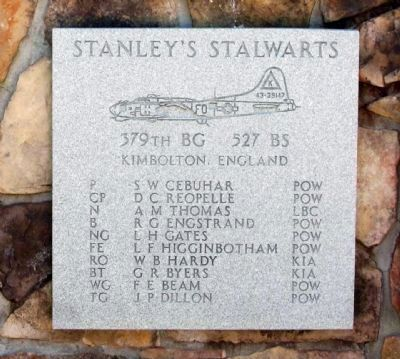 "379th Bombardment Group - 527th Squadron -""Stanley's Stalwarts"" image. Click for full size."