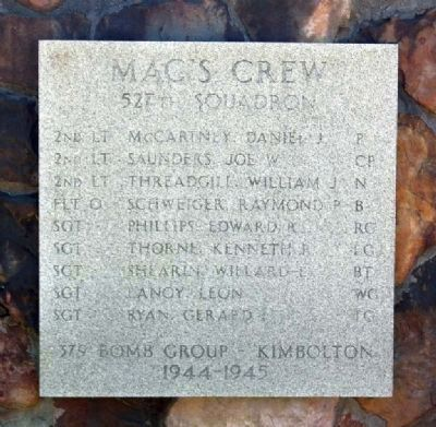"379th Bombardment Group - 527th Squqdron -""Mac's Crew"" image. Click for full size."