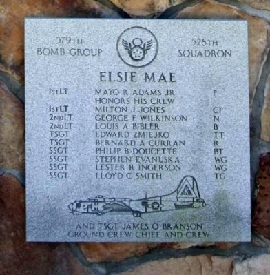 "379th Bombardment Group - 526th Squadron - ""Elsie Mae"" image. Click for full size."
