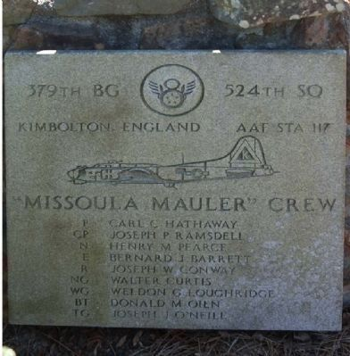 "379th Bombardment Group - 524th Squadron - ""Missoula Mauler"" image. Click for full size."