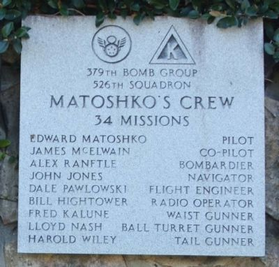 "379th Bombardment Group - 526th Squadron - ""Matoshko""s Crew"" image. Click for full size."