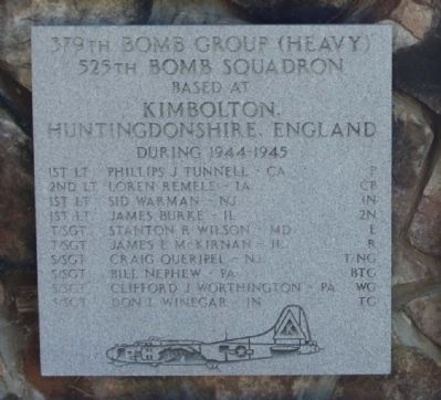 379th Bombardment Group (H) 525th Bomb Squadron image. Click for full size.