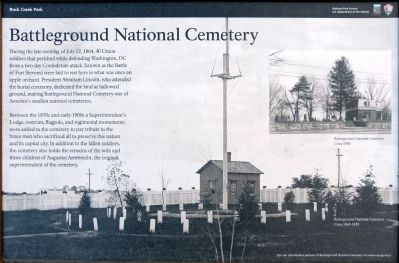 Battleground National Cemetery Marker image. Click for full size.