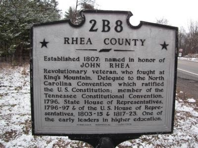 Rhea County Marker image. Click for full size.