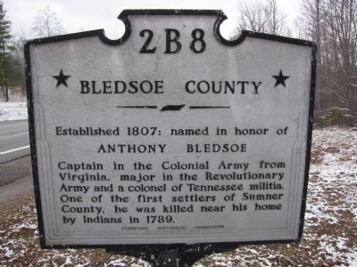 Bledsoe County Marker image. Click for full size.
