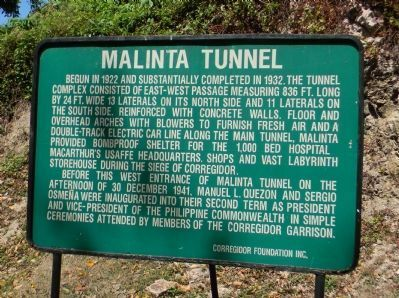 Malinta Tunnel Marker image. Click for full size.
