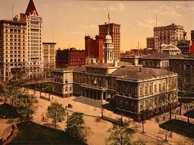 City Hall, circa 1900 image. Click for full size.