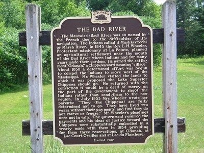 The Bad River Marker image. Click for full size.