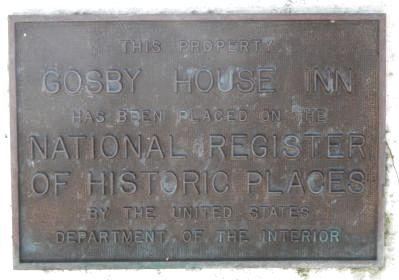 Gosby House Inn Marker image. Click for full size.