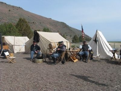 Military Re-Inactors at Gillems Camp image. Click for full size.