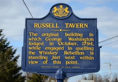 Russell Tavern Marker image. Click for full size.