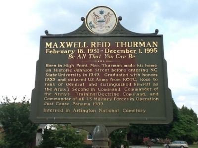 Maxwell Reid Thurman Marker image. Click for full size.