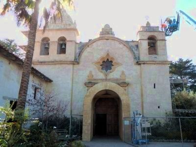 Entrance to the Carmel Mission Church image. Click for full size.
