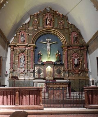 The Altar of the Carmel Mission Church image. Click for full size.