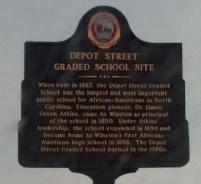 Depot Street Graded School Site Marker image. Click for full size.