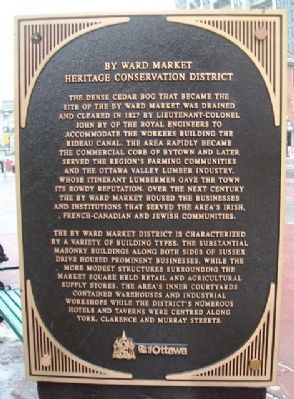 By Ward Market Heritage Conservation District Marker image. Click for full size.