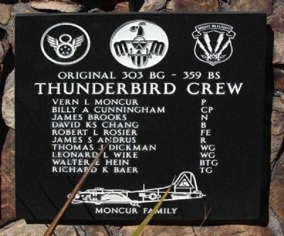 "Original 303rd Bomb Group 359th Bomb Squadron ""Thunderbird Crew"" image. Click for more information."