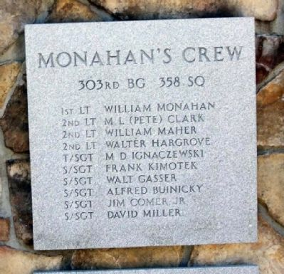 303rd Bomb Group 358th Bomb Squadron - Monahan's Crew image. Click for more information.