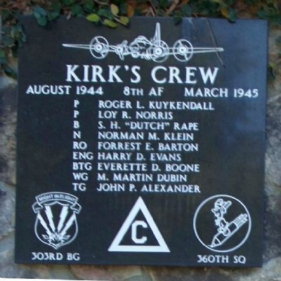 303rd Bomb Group 360th Bomb Squadron - Kirk's Crew image. Click for more information.
