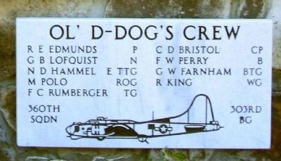 "303rd Bomb Group 360th Bomb Squadron - ""Ol' D-Dogs"" Crew image. Click for more information."