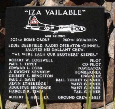 "303rd Bomb Group 360th Bomb Squadron - ""Iza Vailable"" image. Click for more information."