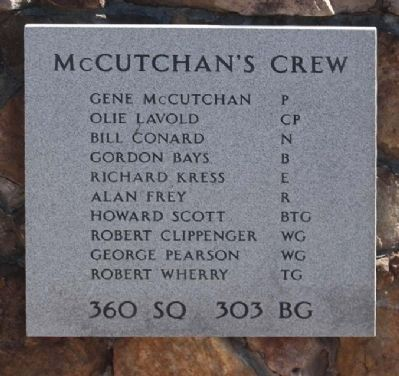 303rd Bomb Group 360th Bomb Squadron - McCutchan's Crew image. Click for more information.