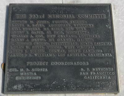The 503rd Memorial Committee & Project Coordinators image. Click for full size.
