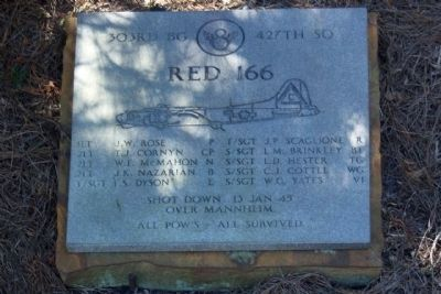 "303rd Bomb Group 427th Bomb Squadron - ""Red 166"" image. Click for more information."