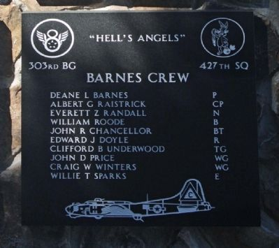 "303rd Bomb Group 427th Bomb Squadron - ""Hell's Angels"" image. Click for more information."