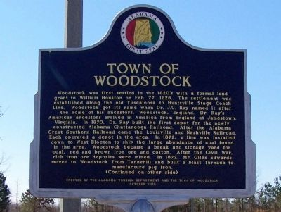 Town of Woodstock Marker, side A image. Click for full size.