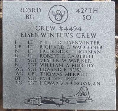 303rd Bomb Group 427th Bomb Squadron - Crew #4494 image. Click for more information.