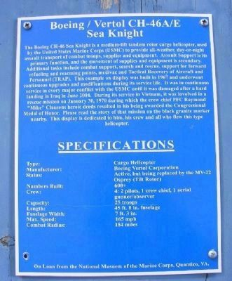 Boeing/Vertol CH-46A/E Sea Knight Marker image. Click for full size.