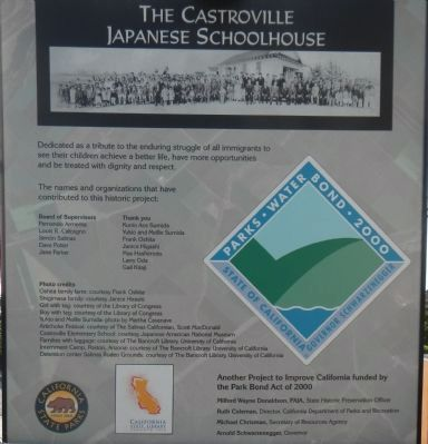 The Castroville Japanese Schoolhouse Marker image. Click for full size.