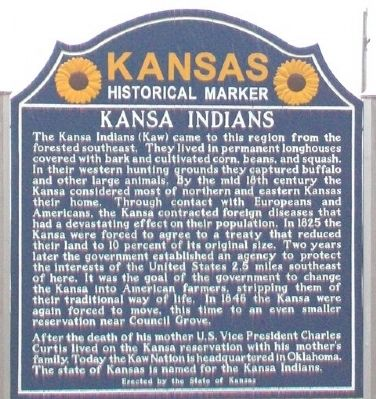Kansa Indians Marker image. Click for full size.
